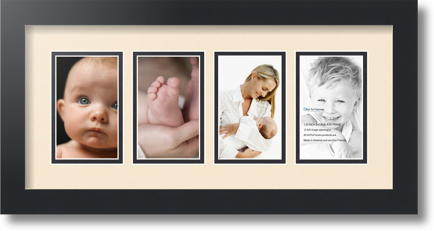 ArtToFrames Collage Mat Picture Photo Frame - 4 3x5\