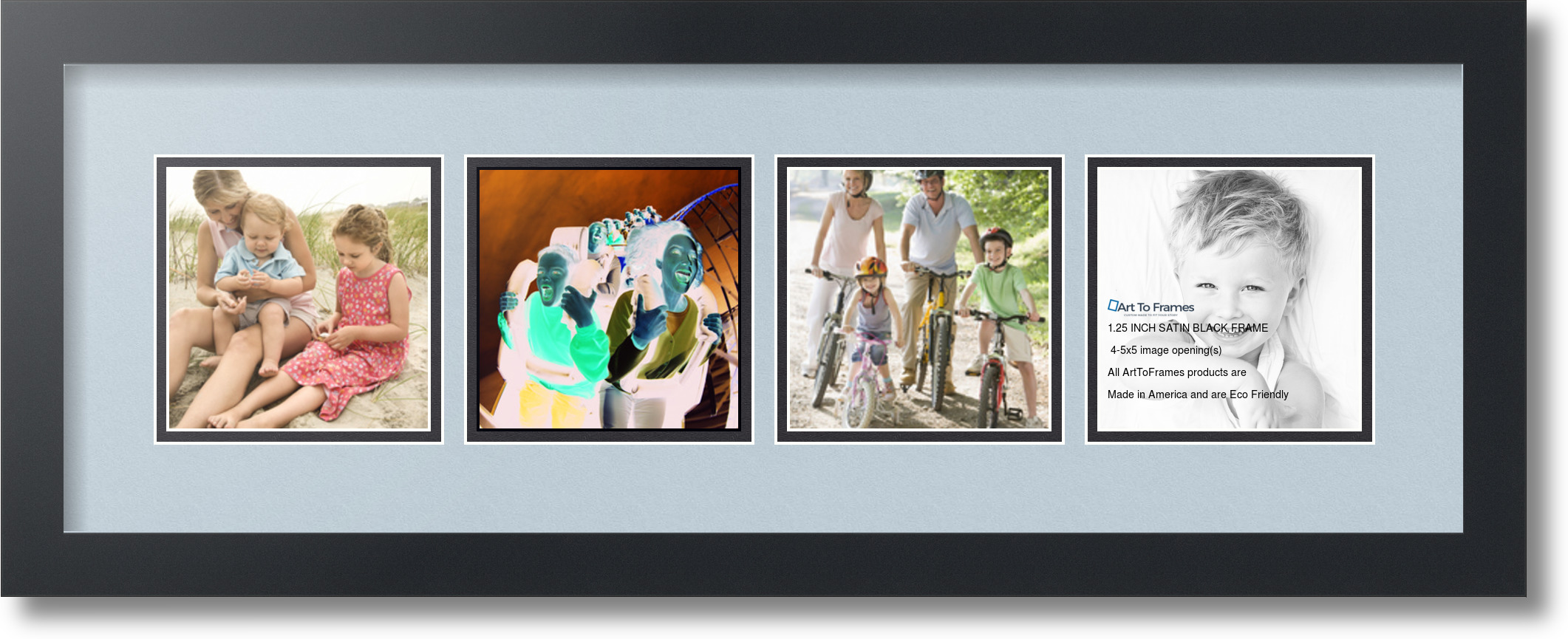 ArtToFrames Collage Mat Picture Photo Frame - 4 5x5\