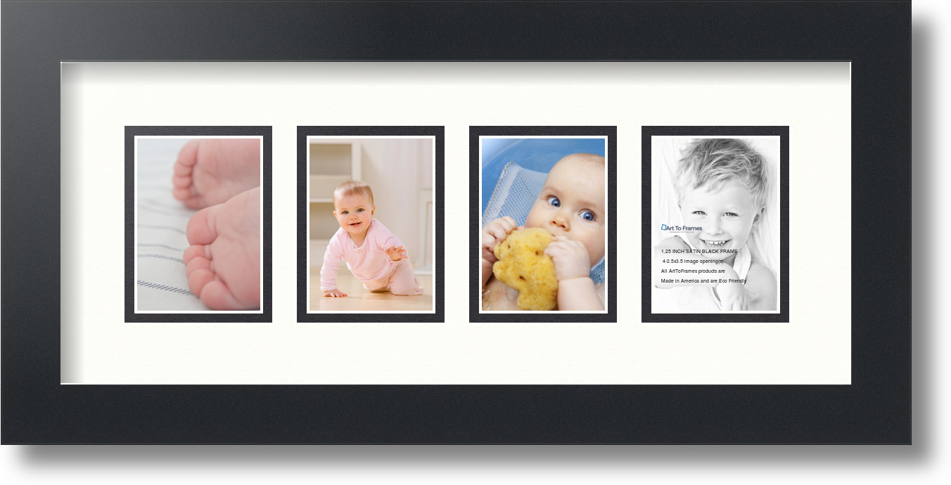 ArtToFrames Collage Mat Picture Photo Frame - 4 2.5x3.5\
