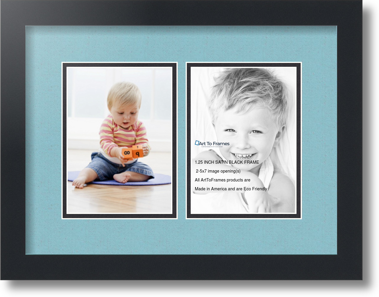 collage picture frames 5x7 frame with 5 openings black wood multi opening photo ebay. Black Bedroom Furniture Sets. Home Design Ideas