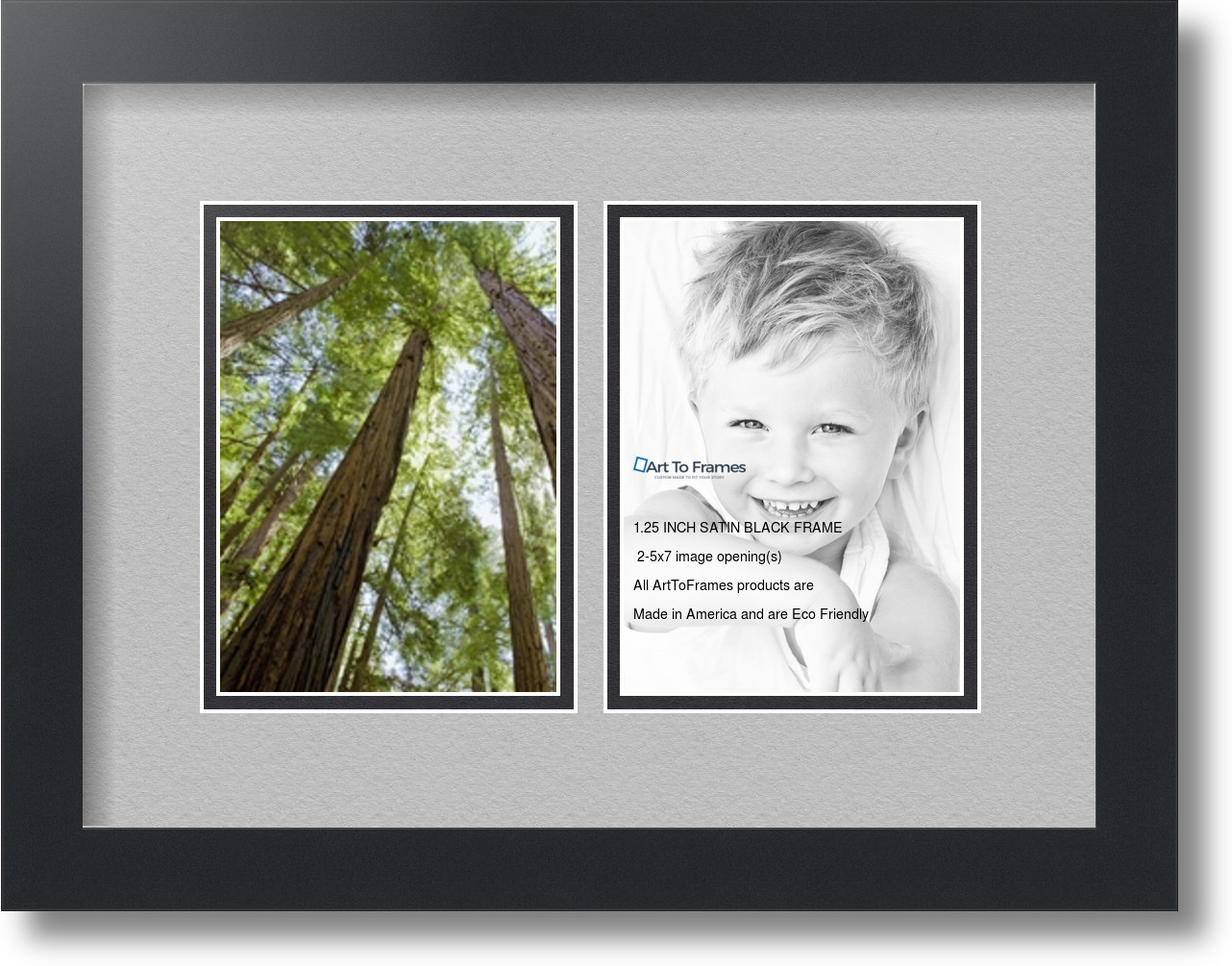 ArtToFrames Collage Mat Picture Photo Frame 2 5x7\