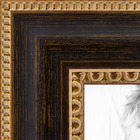 Stain with Looped Gold Band Picture frame