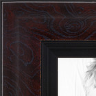 Mahogany with Black Detail Picture frame