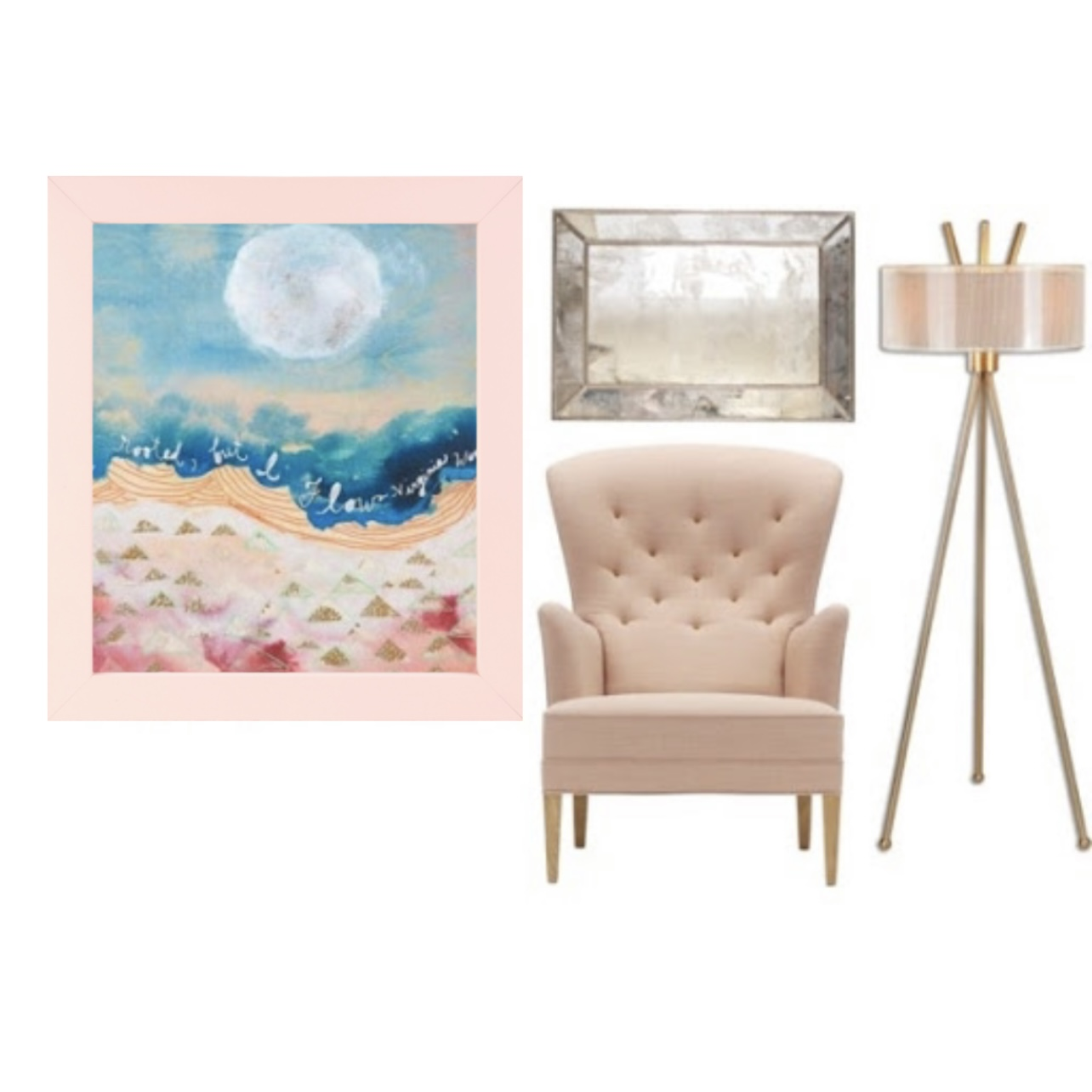 Go Pastel With Our Baby Pink Picture Frame!