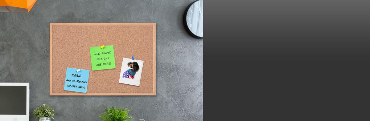 Plain cork bulletin board lifestyle image