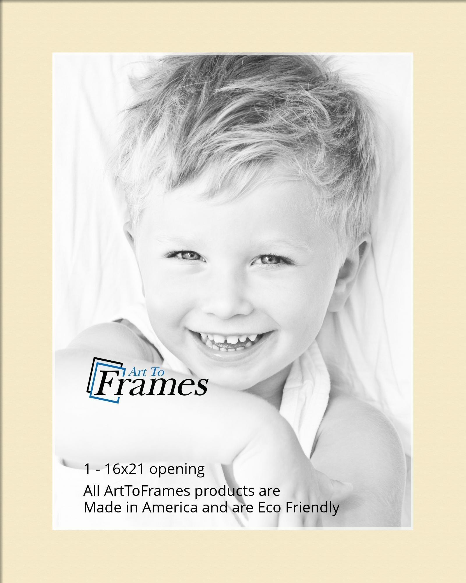Arttoframes Custom Gray Cream Picture Photo Frame Mat