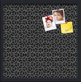 Modeco Hex White Black Custom cork board preview 20x20