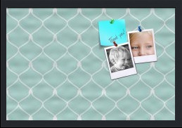 Chain Pattern In Baby Blue Custom cork board preview 24x16
