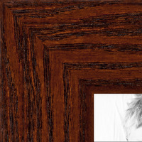 "ArtToFrames 1.5/"" Custom Poster Frame Brown Windsor Mahogany 4687 Large"