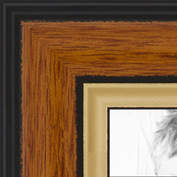 """ArtToFrames Picture Frame Custom 1.4/""""  Gold with beads  4139 Small"""